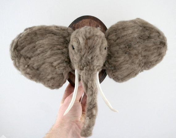 Elephant Faux-Taxidermy (Loxodonta africana)