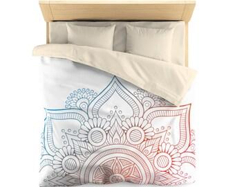 Duvet Cover, geometric shapes, abstract design, Mandala art