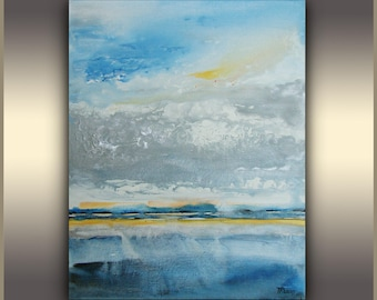 Abstract landscape Painting, Original, Art Painting, Acrylic Painting, Wall art, modern art, Abstract art, blue painting, Made to order