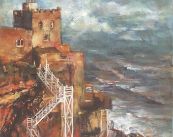 Jacobs Ladder - Sidmouth (Signed, Limited Edition, High Quality Giclee Print from Original Acylic Painting)