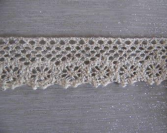 Binding lace macrame and silver lurex SKU: 11012