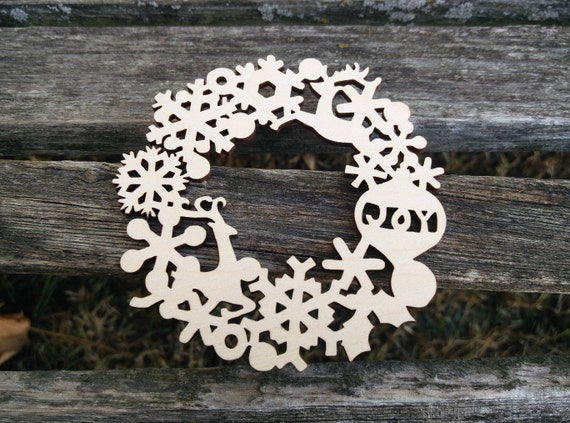Holiday Wood Ornament. Laser Cut. Christmas Decoration, Gift. Mom, Dad, Tree, Reindeer, Holly, Snowflake