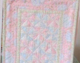 Miniature Pinwheel quilt Pinwheels Pastels