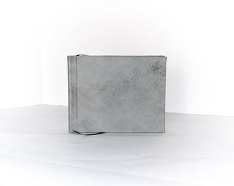 Leather Journal with Watercolor Paper, 5x7, Charcoal Gray Italian Lambskin