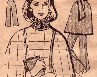 Mail Order B-176 sewing pattern // swinging cape with matching pants