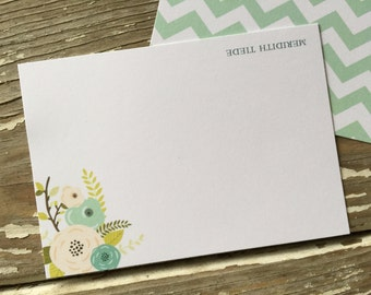 Personalized Note Cards - Set of 8 - Samantha Note