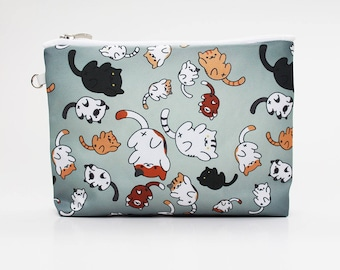 Neko Atsume Cat Cosmetic Bag Makeup pouch Travel bag Accessory bag Zipper pouch Storage bag Makeup bag Pencil Case Toiletry bag