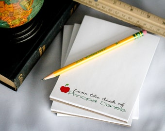Set of 4 Personalized Teacher Notepad - From the Desk of - Teacher Gifts - gifts for teacher - personalized gifts