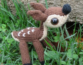 Tiny Fawn Baby Deer Amigurumi Toy Knitting Pattern PDF Instant Download