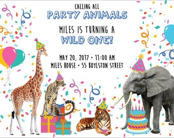 Party Animals Invite Digital File