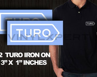 TURO DIY Logos Iron-on Heat Transfer T Shirt Polo Sweater T-shirt Lyft Uber getaround flightcar carma darenta sidecar
