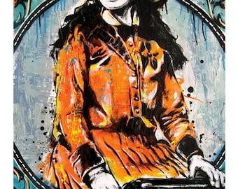 Annie Oakley - Sharpshootin' Cowgirl- 12 x 18 High Quality Pop Art Print