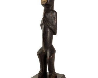 Metoko Miniature Toothy Mouth Congo African Art 113796