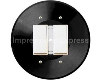 Vinyl Record Decora Double Rocker Switch Plate Cover