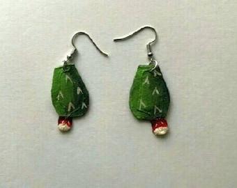 Tiny Nopales Earrings, Hand Painted Nopal y Tuna Earrings