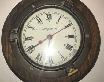 Emory and Douglas marinetime nautical clock