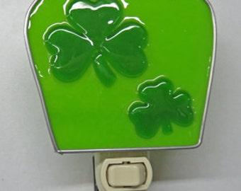 Shamrock x5 Night Lights - Glass St. Patrick's Night Lights - Shamrocks Ready to Ship
