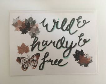 Modern Calligraphy Wuthering Heights quote card