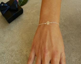 YOGA Bracelet,Tiny LOTUS Flower, Yoga jewelry. Spiritual Bracelet, Amazonite beads, Gift for her, Petite Yoga bracelet, Dainty bracelet