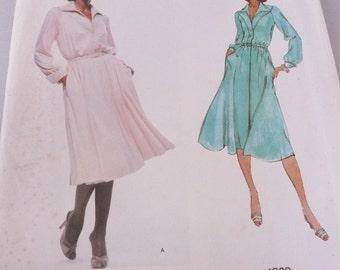 Vintage Vogue American Designer  Pattern 1829 Dress by Jerry Silverman  Misses Size 14