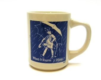 Morton Salt: When it Rains it Pours Mug (1914 logo)