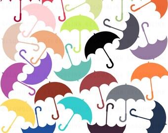 Umbrella Digital Clip Art, Commercial Use - Instant Download - DP257