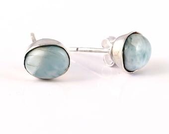 Larimar silver earring