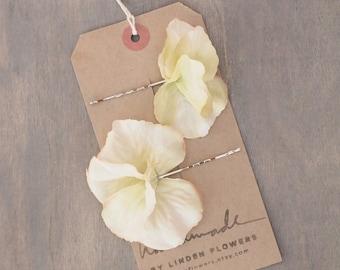 Vintage Ivory Hydrangea Hair Pins Wedding Hair Accessorise