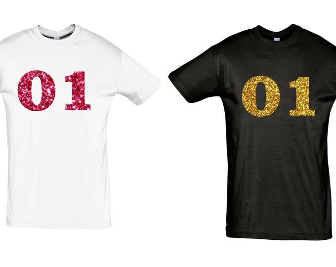 100% glitter number number saying T-Shirt gift sayings glitter holiday gear crew love tshirt