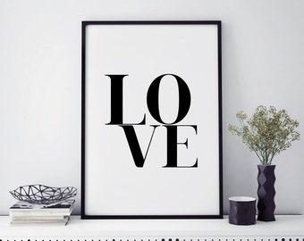 Love decor, top selling items, danish modern wall art prints, minimalist art, gifts ideas, love wall poster, typography print, home decor