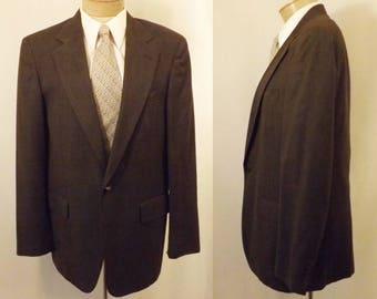 70s Cricketeer Brown Stripe  Men's Sport Coat Size 40
