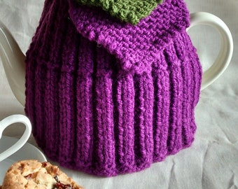 Tea for Two Tea Cosy - Two Hearts Hand knitted Tea Cozy - Tea Lovers Tea Cosy - Suffragette - WI