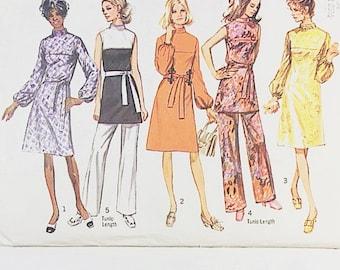 70s Dress Pattern | Simplicity 9125 Misses Tunic & Pants Pattern | 70s Sewing Pattern