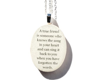Best friend necklace . friendship necklace . Going away gift . personalized jewelry, graduation gift, friendship gift