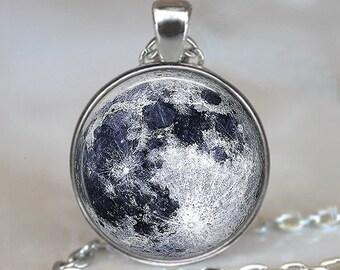 Full Moon necklace, full moon pendant moon jewelry moon jewellery celestial jewelry astronomy pendant NASA photo key chain key ring key fob
