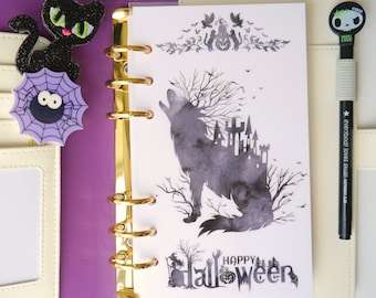 Haunted Wolf Personal, A5, A6, B6 & Pocket Size Planner Dashboards