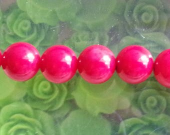 1 bead 8 mm in diameter, hole 1 mm red genuine coral