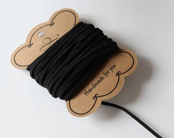 1 m cord Black Suede 2.5 mm