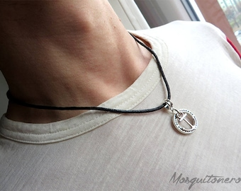 Necklace yet, nautical man necklace, anchor, sailor necklace, sea, silver, for him, gift him, man choker,
