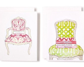 IKAT & TRELLIS Chair Notecards