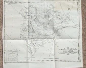 Antique Map of Rutland c.1900