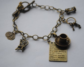 Once Upon A Time ABC TV Mr Gold/ Rumplestiltskin Character Charm Bracelet