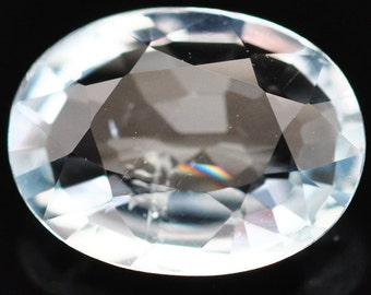 1.00 Ct. Top Quality Natural Gemstone Oval Sky Blue Aquamarine - Free shipping