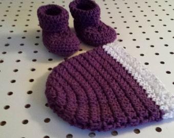 Crocheted Booties/Hat