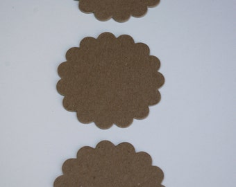 Chipboard Die Cuts Scalloped Circles