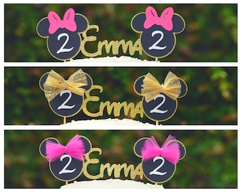 Minnie Mouse Birthday Cake Topper