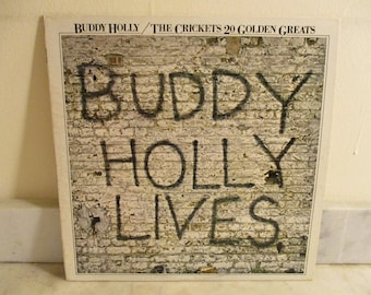 Vintage 1978 Vinyl LP Record Buddy Holly The Crickets 20 Golden Greats Excellent Condition 16314