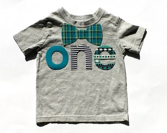 o n e //First Birthday//Fabric Iron On Applique Letters//Bow Tie Option Available