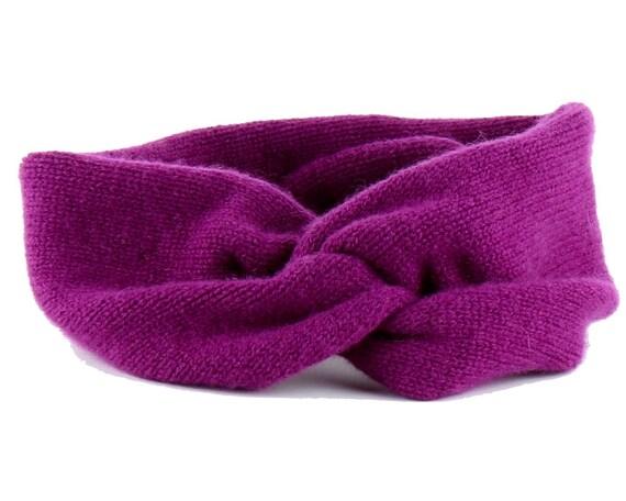 Magenta Cashmere Headband