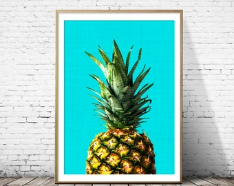Pineapple print, Pineapple art, Pineapple art print, tropical fruit, pineapple poster, pineapple decor,fruit art,fruit print, fruit wall art